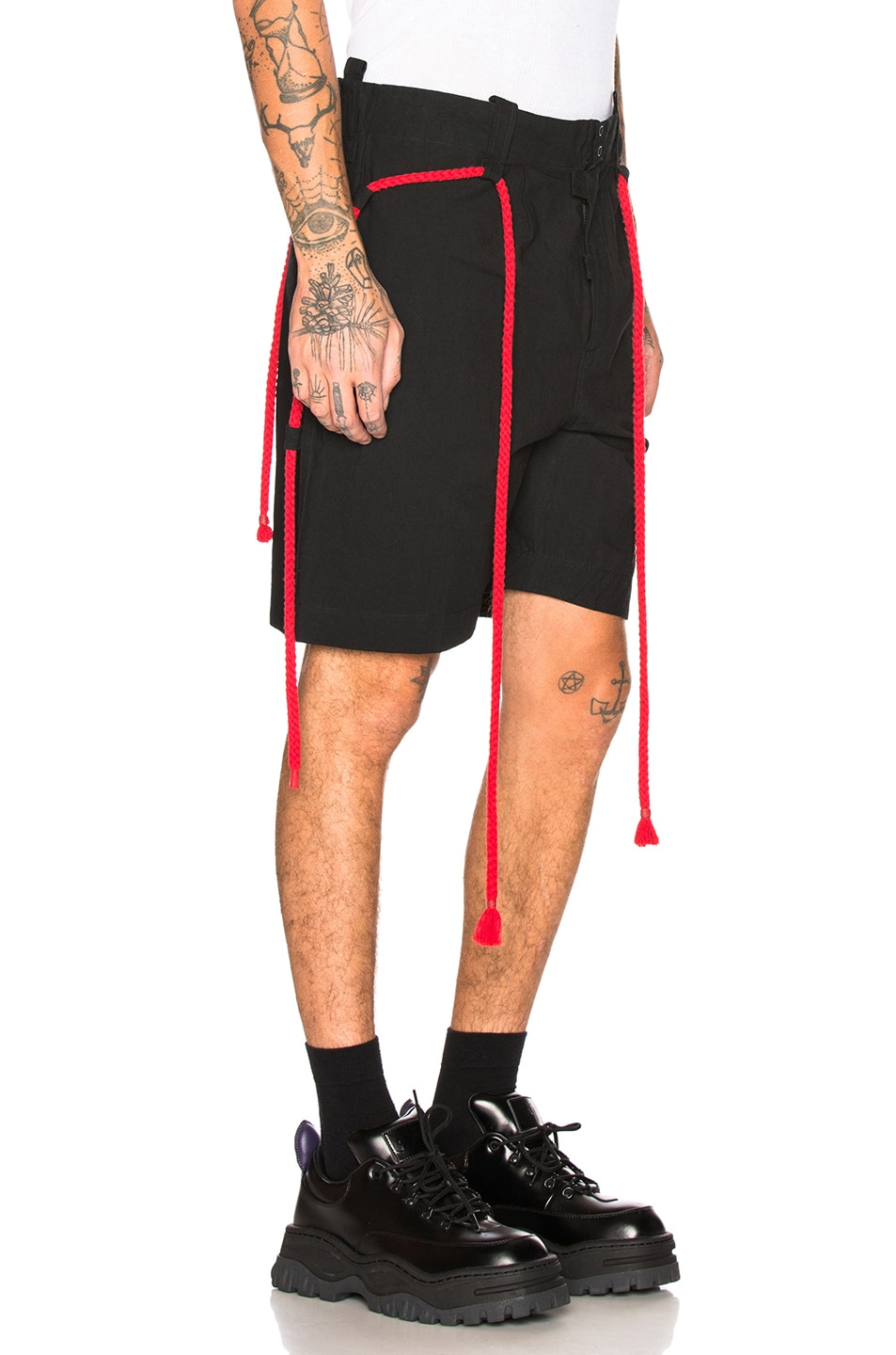 Image 3 of Craig Green Rope Shorts in Black