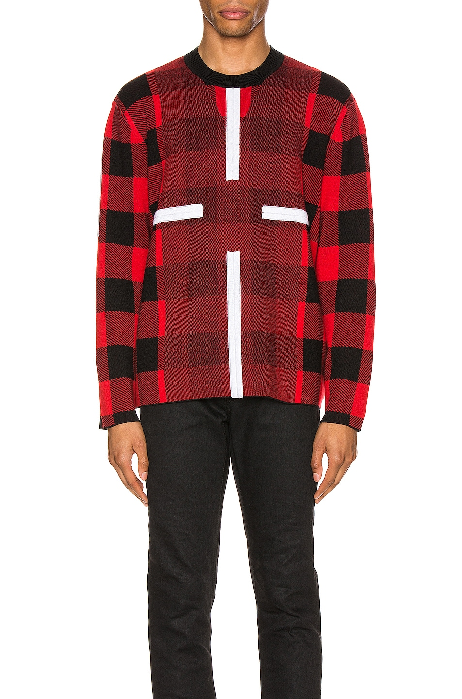 Image 1 of Craig Green Birdseye Plaid Jumper in Red