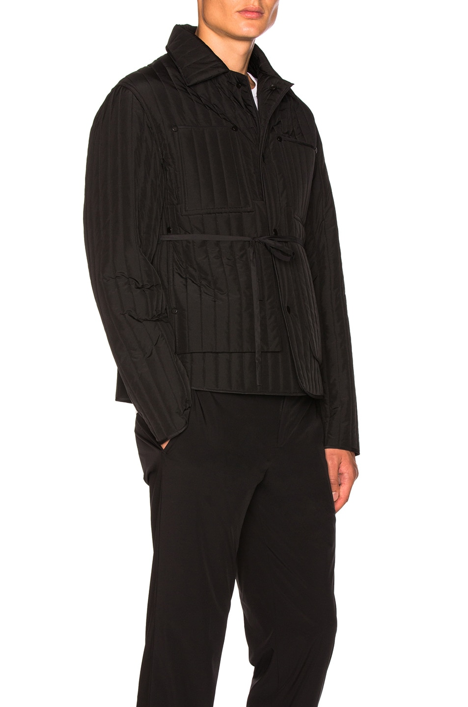 Image 3 of Craig Green Quilted Work Jacket in Black