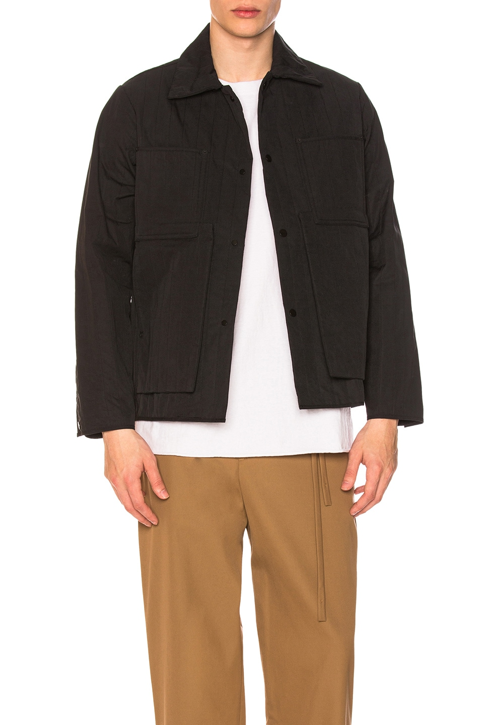 Image 1 of Craig Green Quilted Workwear Jacket in Black
