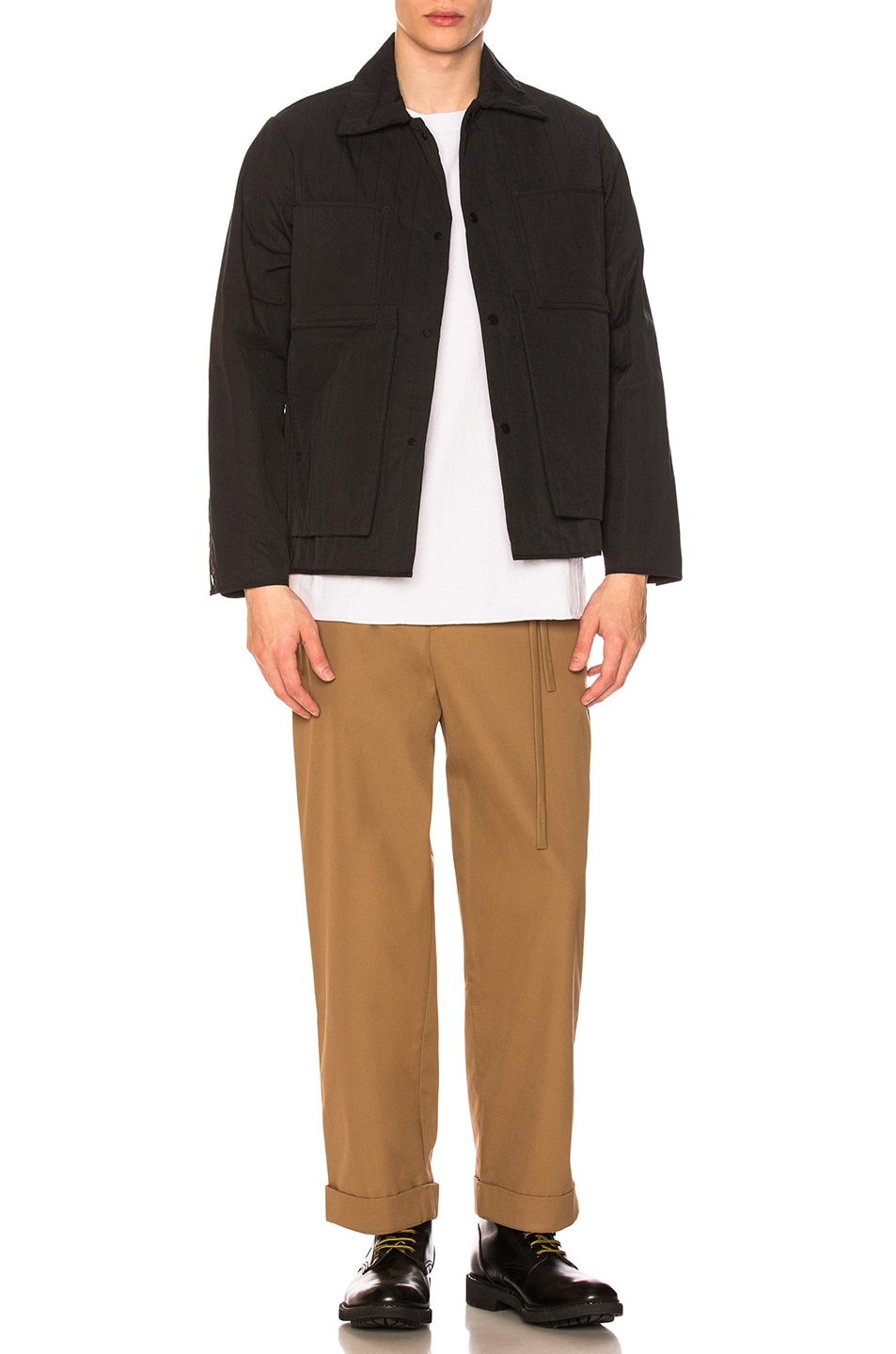 Image 5 of Craig Green Quilted Workwear Jacket in Black