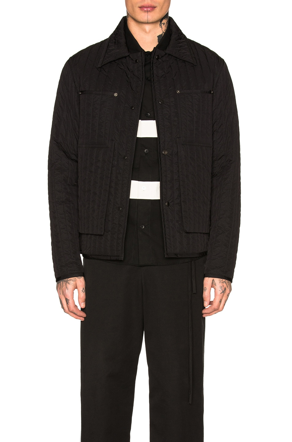 Image 1 of Craig Green Quilted Worker Jacket in Black