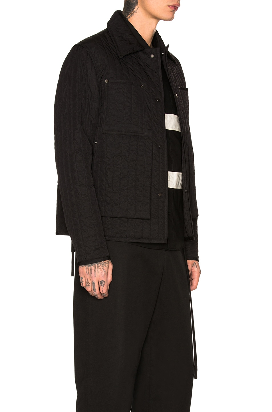 Image 3 of Craig Green Quilted Worker Jacket in Black