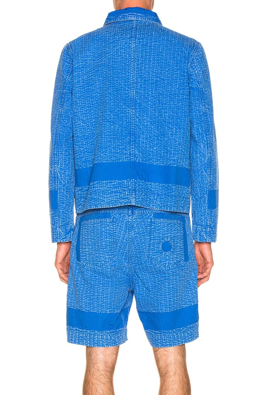 Image 4 of Craig Green Acid Wash Line Stitch Worker Jacket in Blue