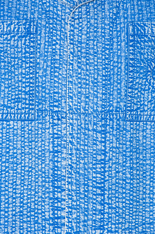 Image 6 of Craig Green Acid Wash Line Stitch Worker Jacket in Blue
