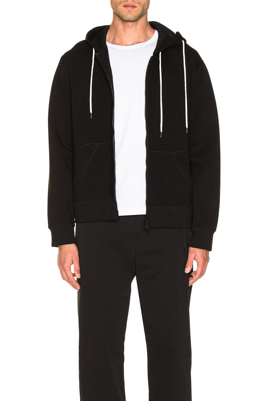 Image 1 of Craig Green Laced Zip Up Hoodie in Black