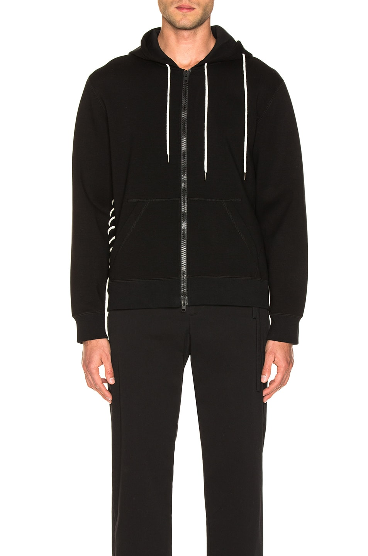 Image 2 of Craig Green Laced Zip Up Hoodie in Black