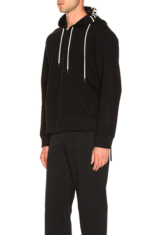 Image 4 of Craig Green Laced Zip Up Hoodie in Black