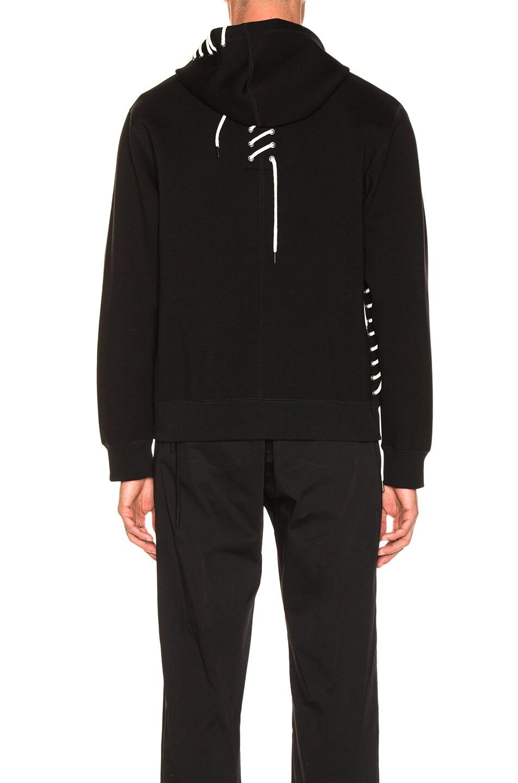 Image 5 of Craig Green Laced Zip Up Hoodie in Black
