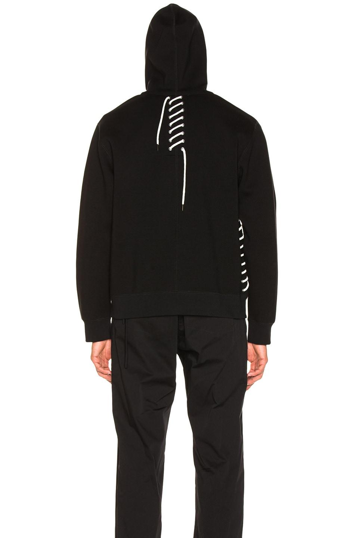 Image 6 of Craig Green Laced Zip Up Hoodie in Black
