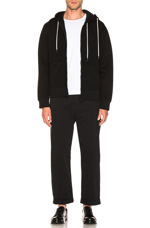Image 7 of Craig Green Laced Zip Up Hoodie in Black