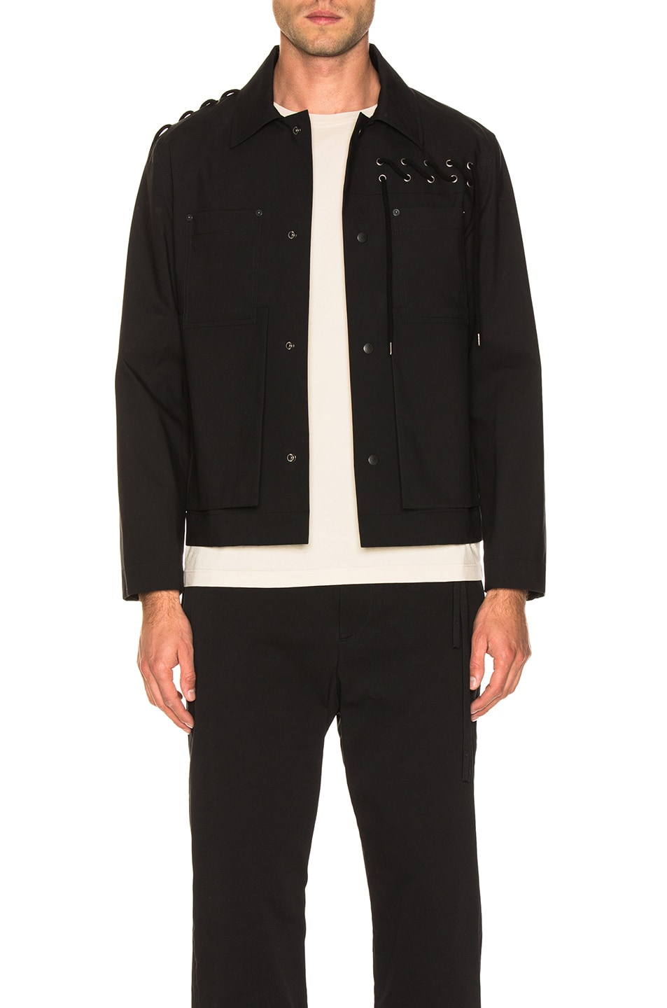 Image 1 of Craig Green Laced Bonded Worker Jacket in Black