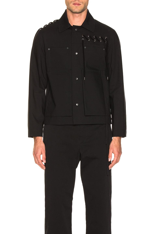 Craig Green Laced Bonded Worker Jacket Black delicate