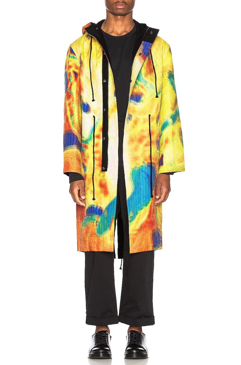 Image 1 of Craig Green Vibrating Scene Line Stitch Parka in Yellow
