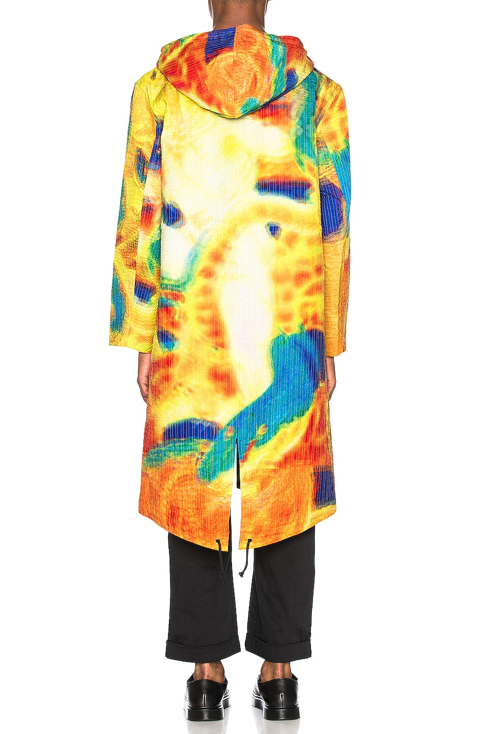 Image 4 of Craig Green Vibrating Scene Line Stitch Parka in Yellow
