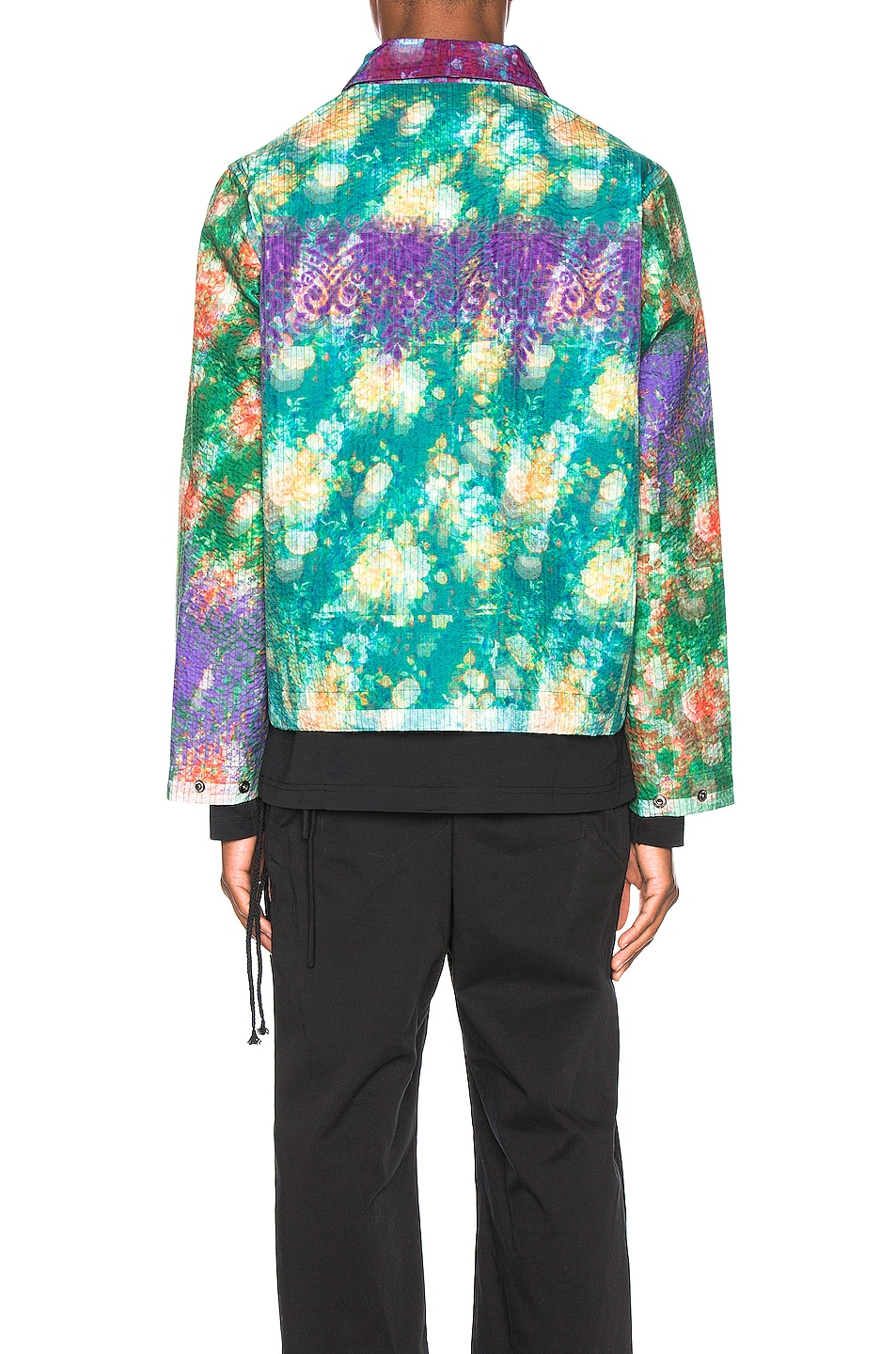 Image 5 of Craig Green Vibrating Floral Line Stitch Worker Jacket in Purple