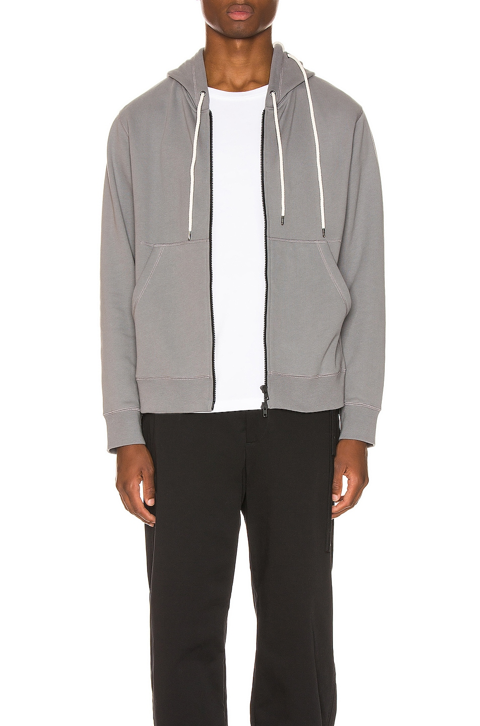 Image 1 of Craig Green Laced Zip Up Hoodie in Grey