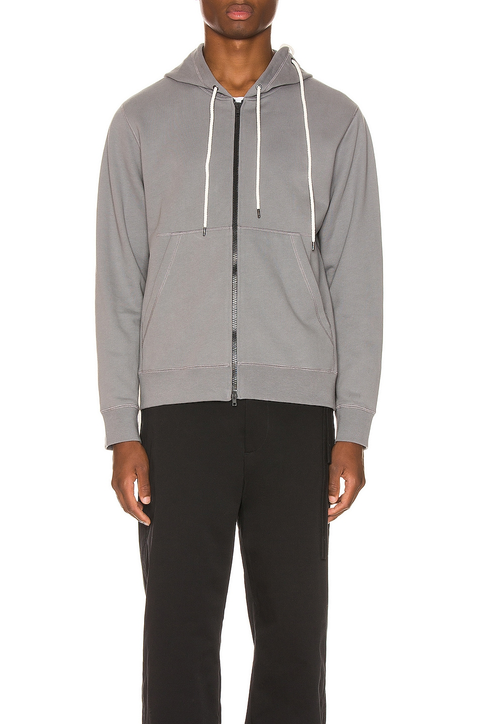 Image 2 of Craig Green Laced Zip Up Hoodie in Grey