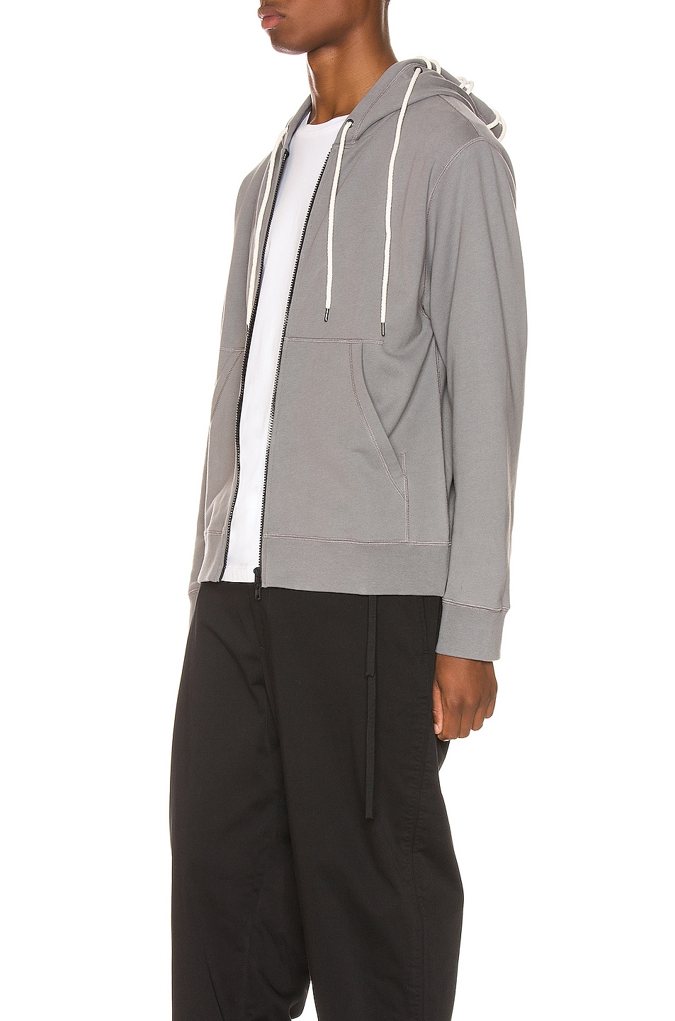 Image 4 of Craig Green Laced Zip Up Hoodie in Grey