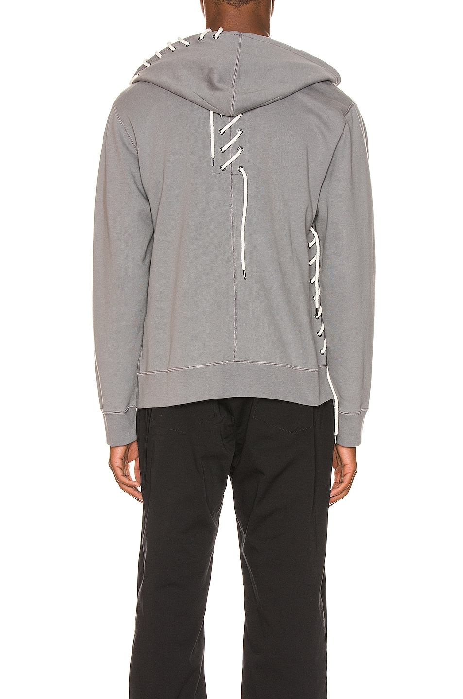 Image 5 of Craig Green Laced Zip Up Hoodie in Grey