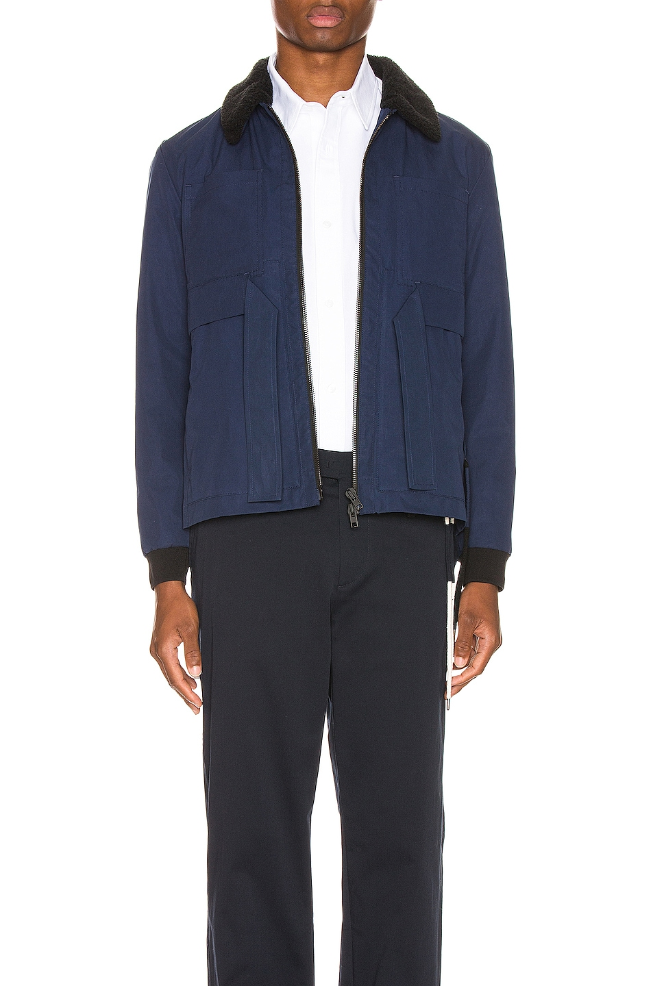 Image 1 of Craig Green Shearling Worker Jacket in Navy