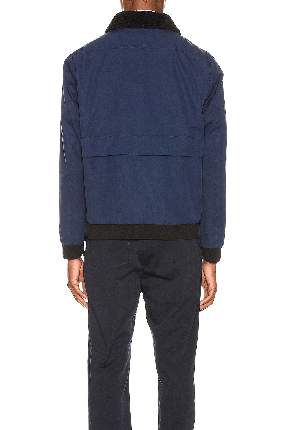 Image 4 of Craig Green Shearling Worker Jacket in Navy