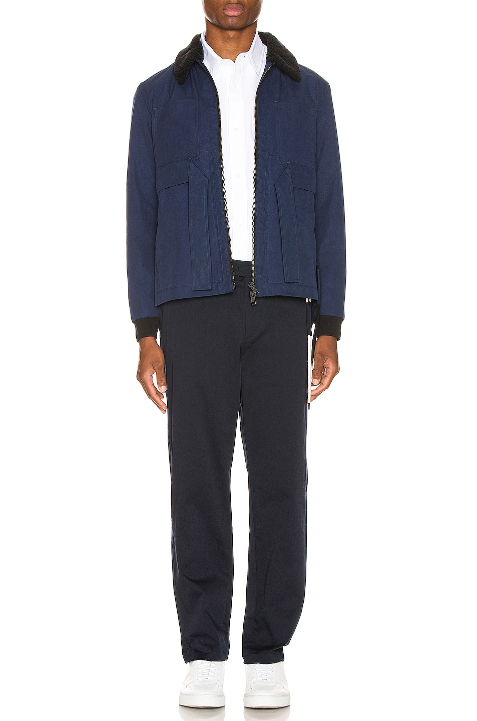 Image 5 of Craig Green Shearling Worker Jacket in Navy