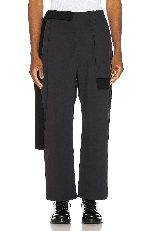Image 1 of Craig Green Nylon Rib Trouser in Black