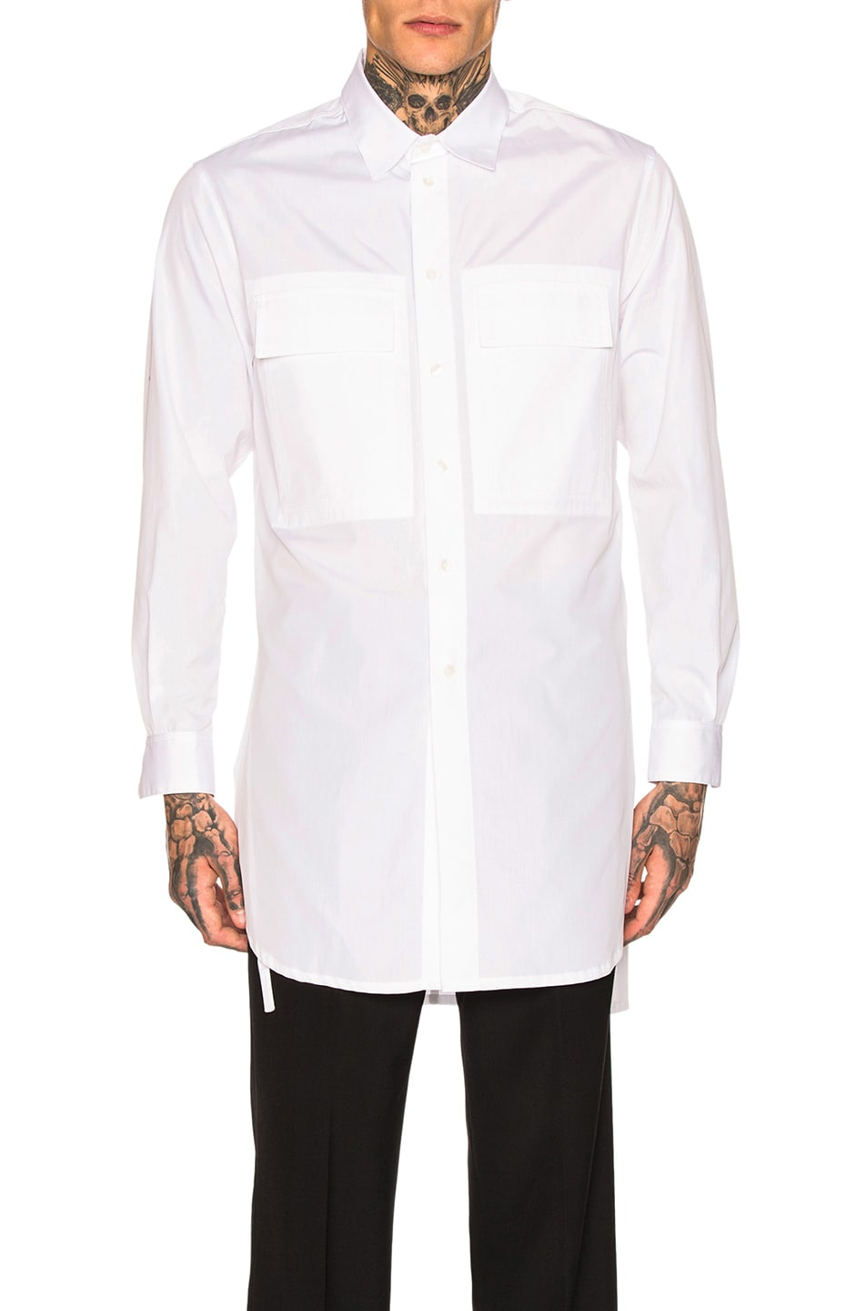 Image 1 of Craig Green Long Shirt in White