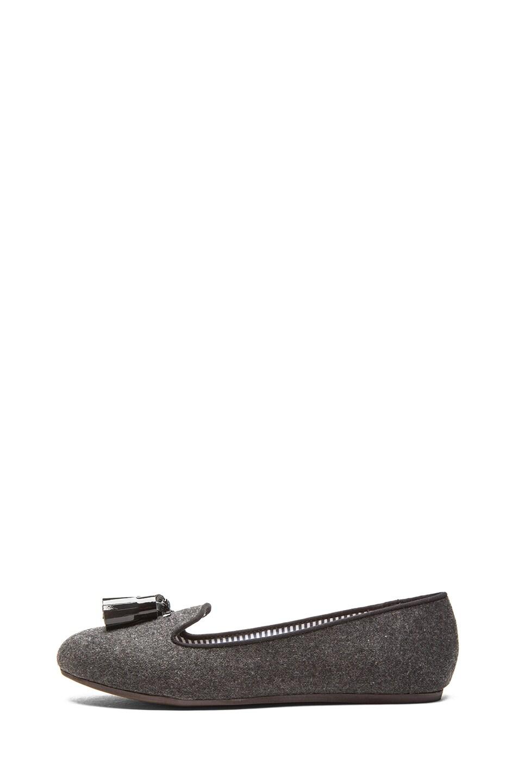 Image 1 of Charles Philip Shanghai Lana Wool Loafers in Dark Grey Flannel