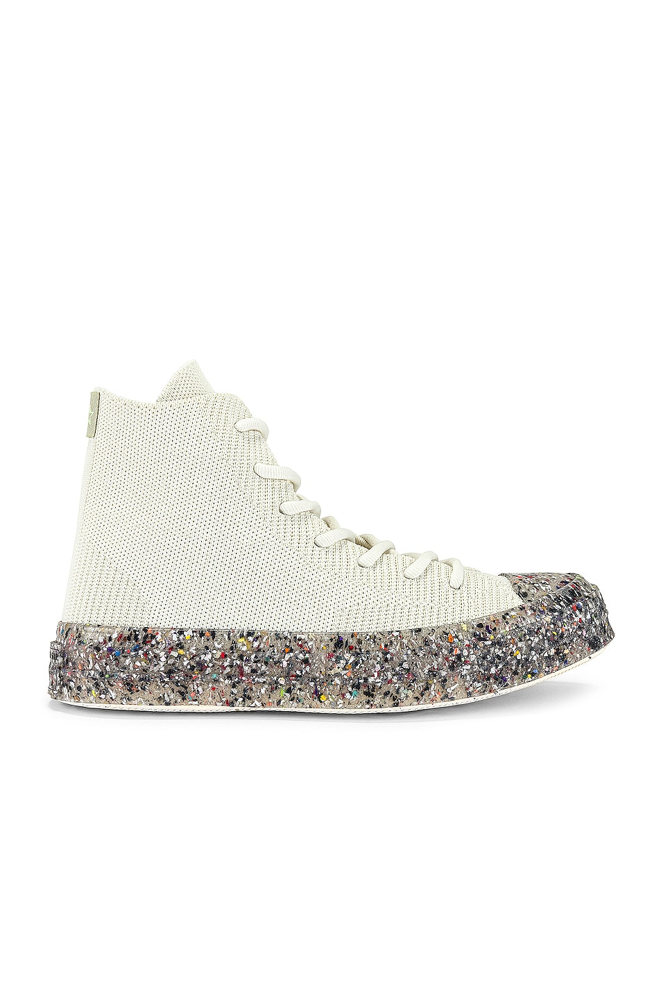 Image 1 of Converse Renew Recycled Knit Hi in Egret
