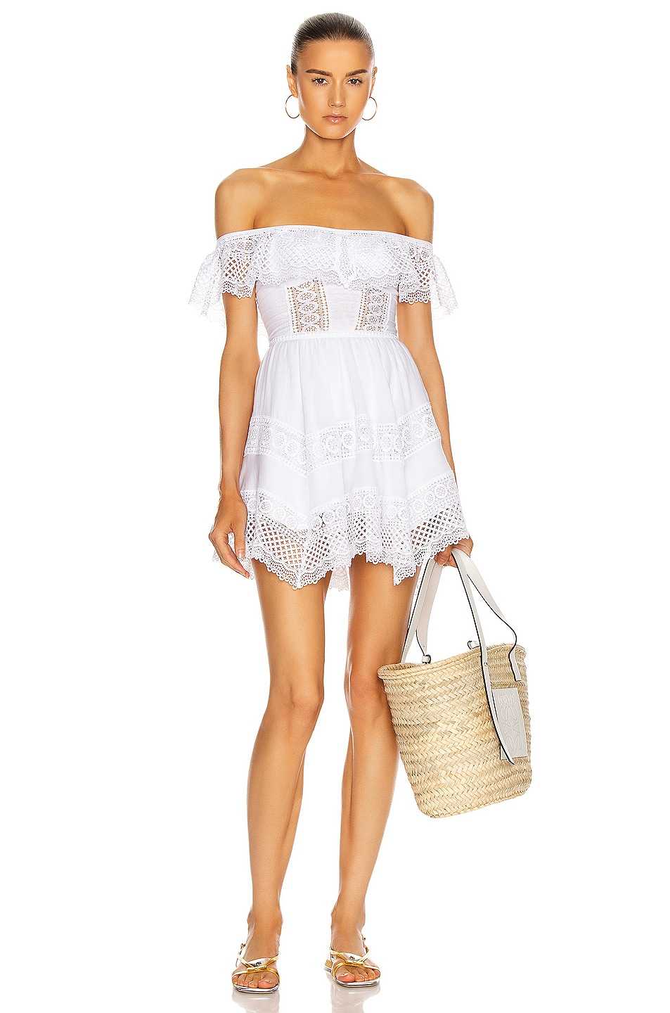 Image 1 of Charo Ruiz Ibiza Vaiana Dress in White