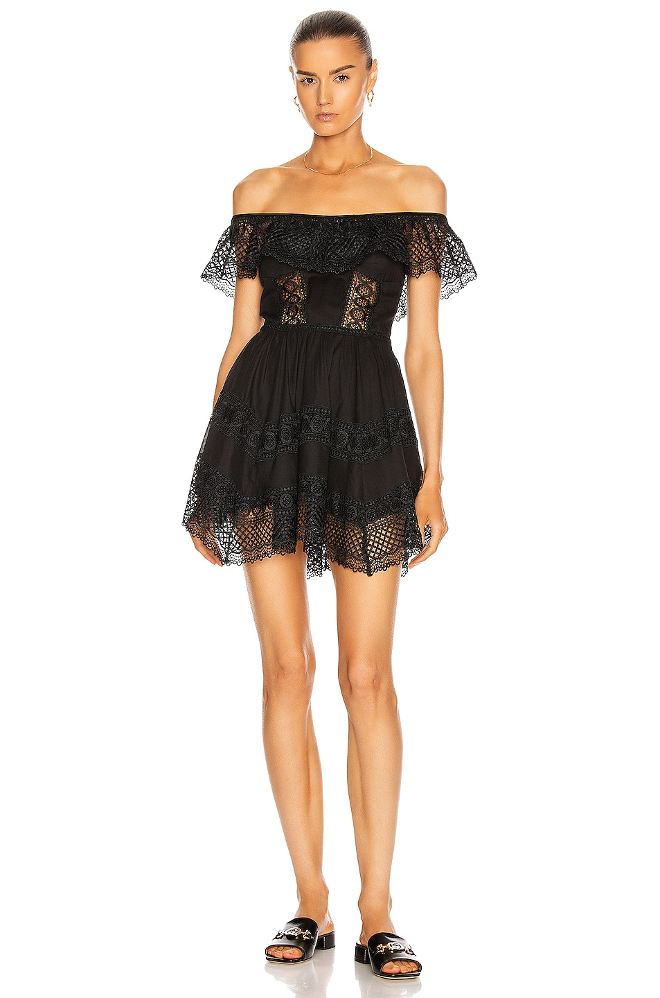 Image 1 of Charo Ruiz Ibiza Vaiana Dress in Black