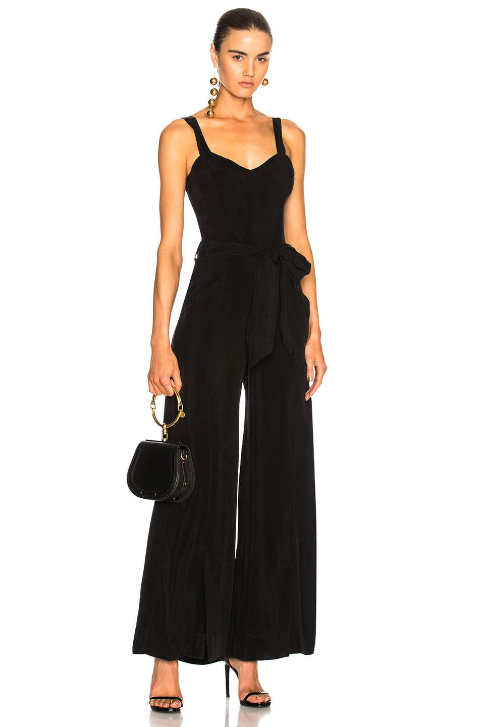 Image 1 of Calvin Rucker Why Don't You and I Jumpsuit in Black