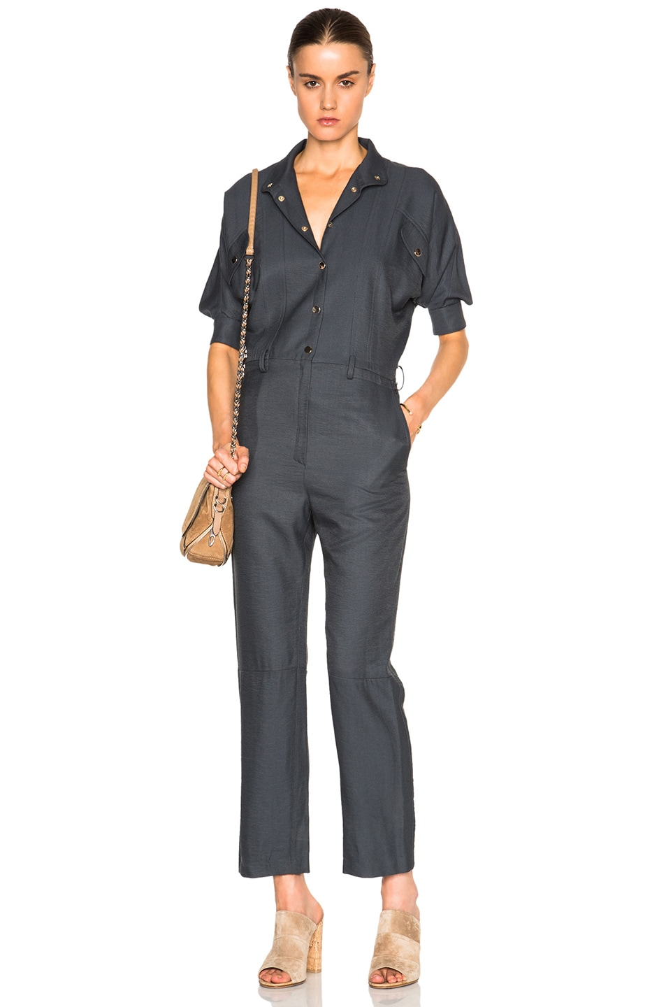 Image 1 of Carolina Ritz Charles 85 Jumpsuit in Blue