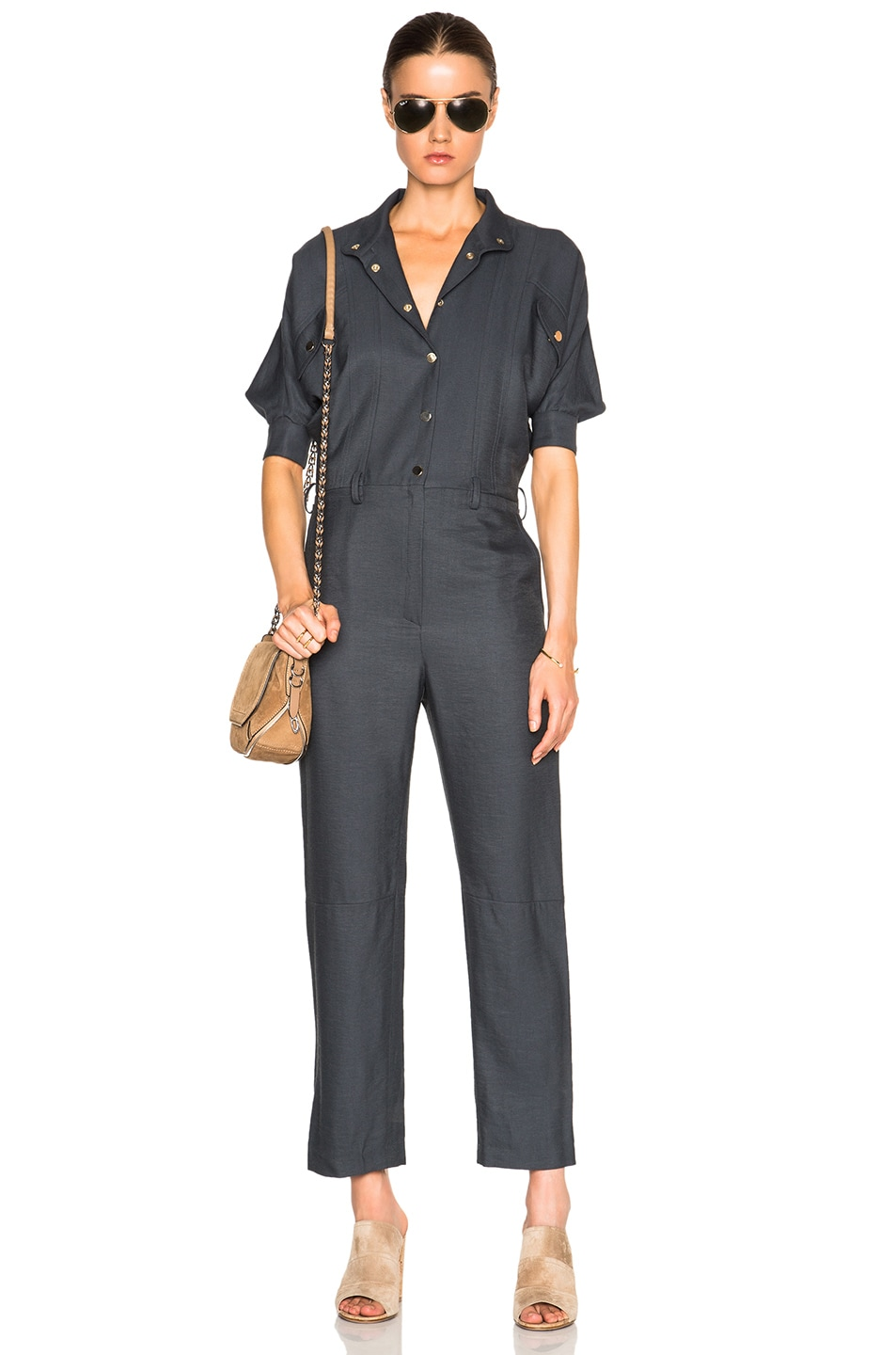 Image 5 of Carolina Ritz Charles 85 Jumpsuit in Blue