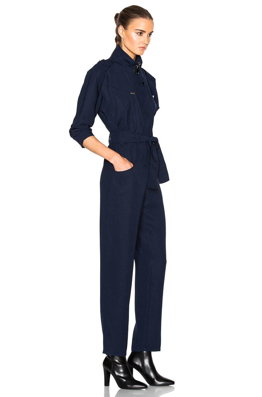 Image 3 of Carolina Ritzler Belted Jumpsuit in Navy Blue
