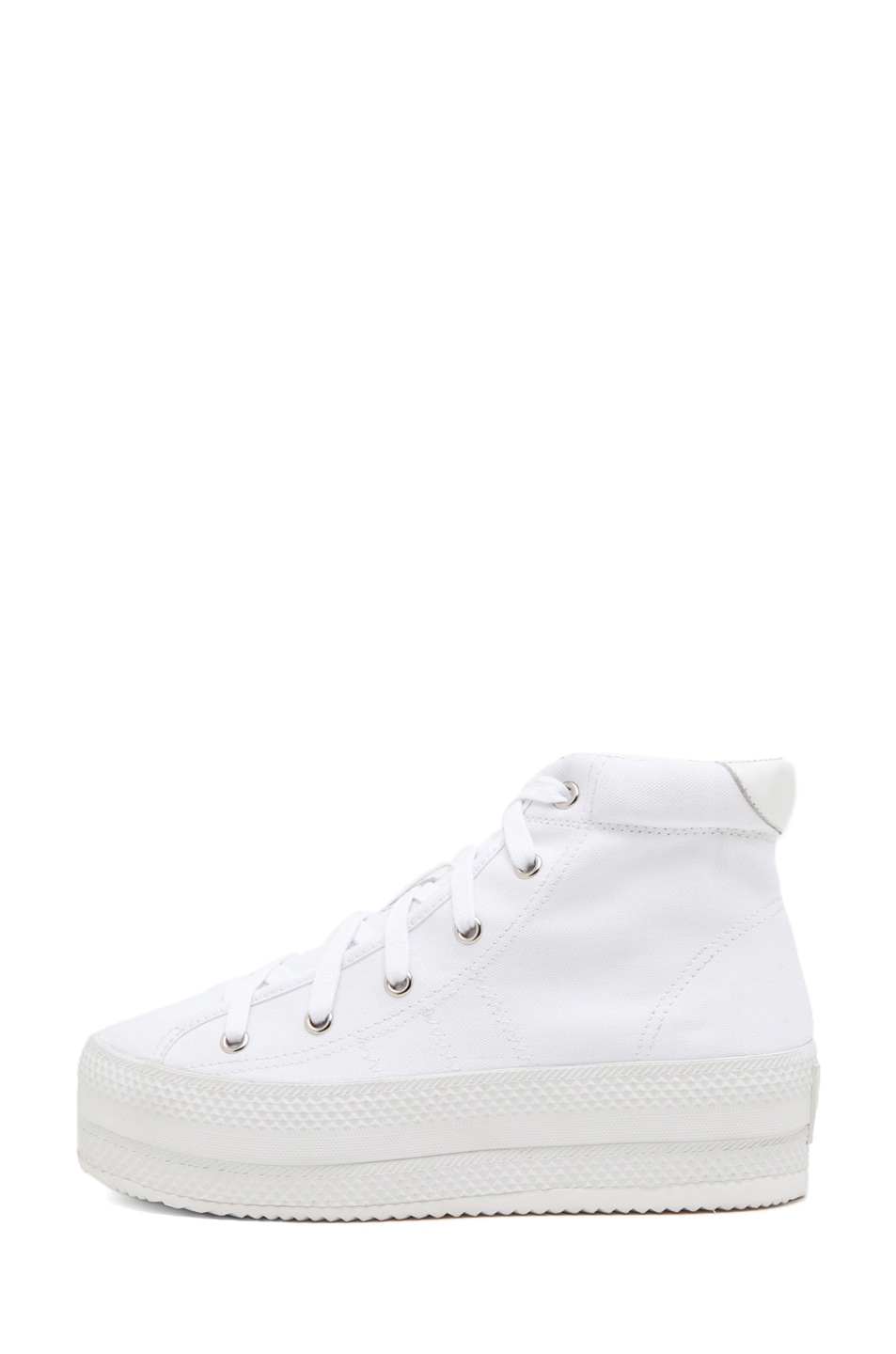 Image 1 of Chloe Sevigny for Opening Ceremony Canvas Platforms in White