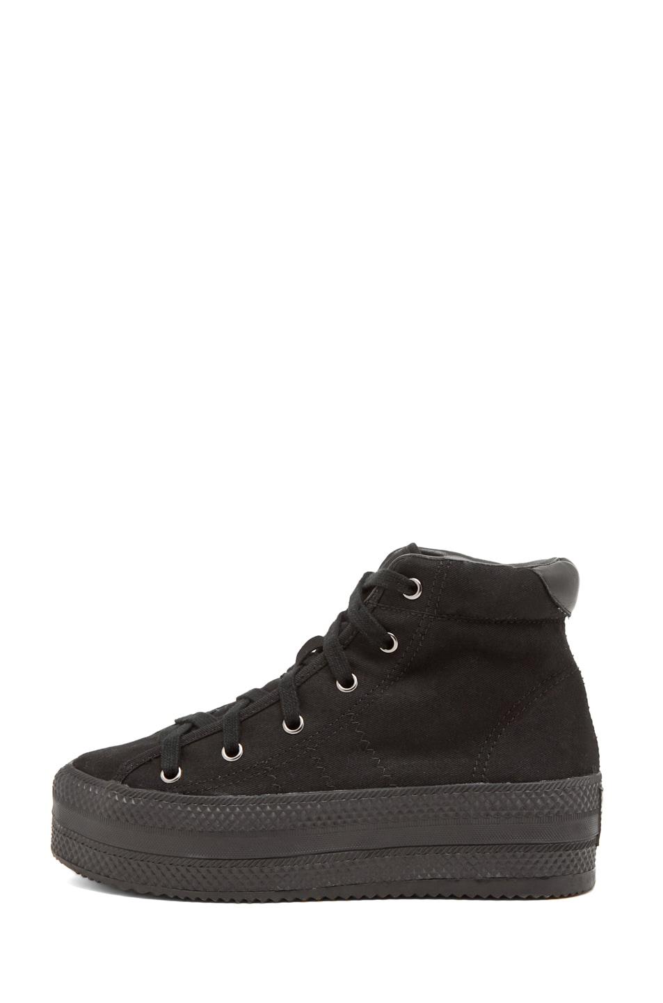 Image 1 of Chloe Sevigny for Opening Ceremony Canvas Platforms in Black