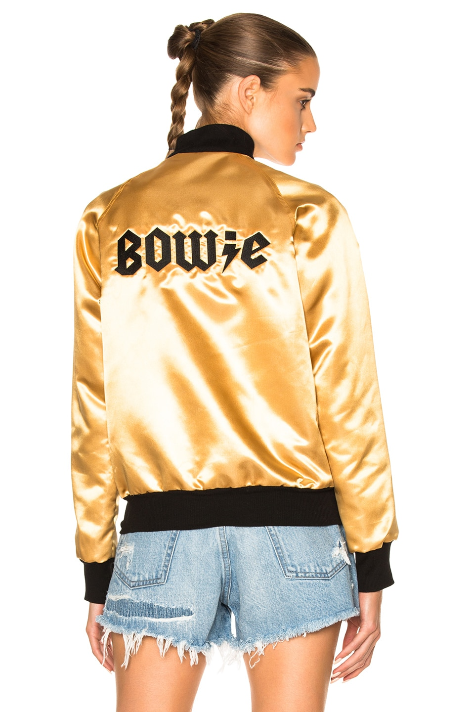 Image 1 of Catherine Fulmer Bowie Bomber Jacket in Gold