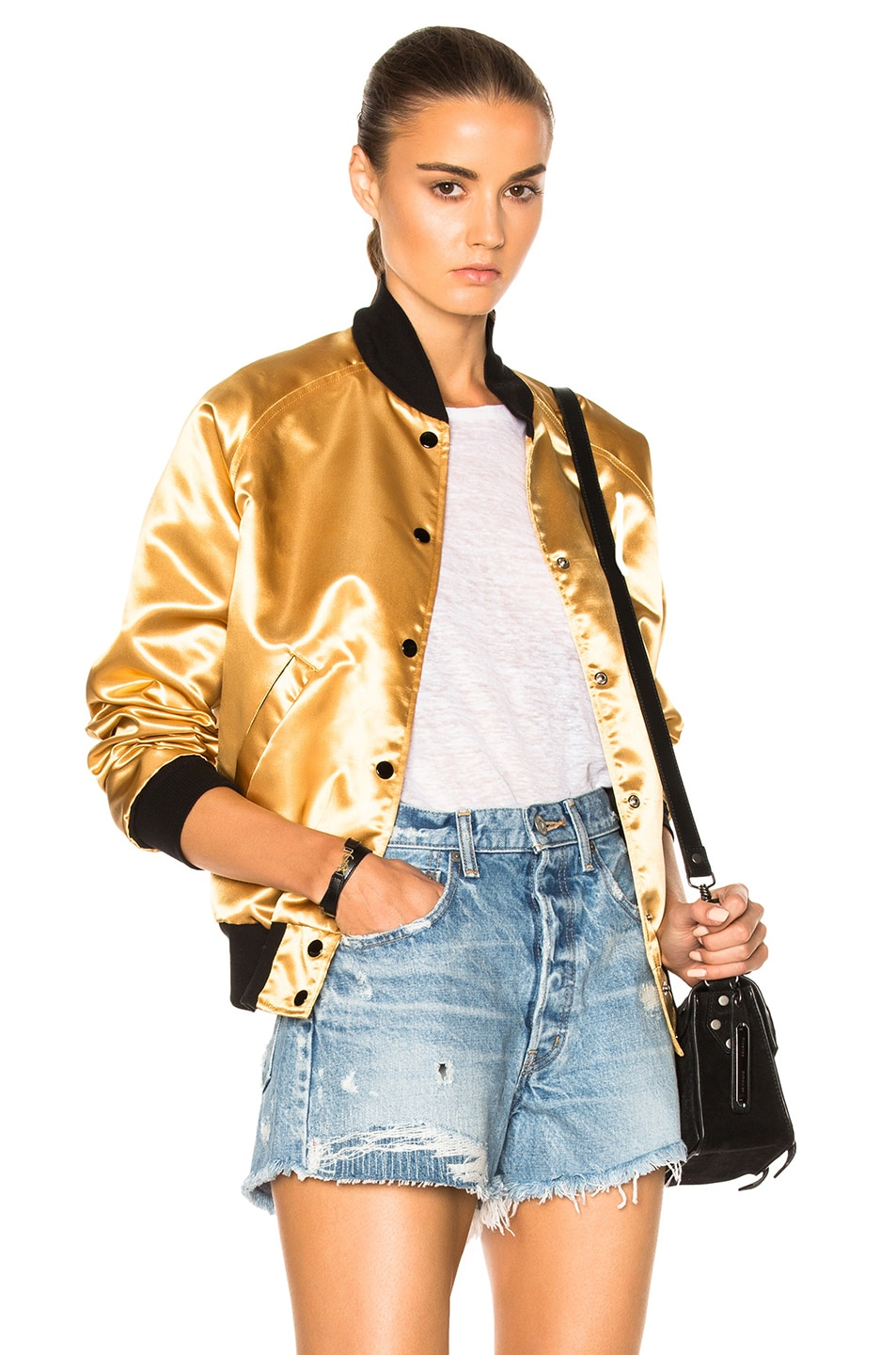 Image 2 of Catherine Fulmer Bowie Bomber Jacket in Gold