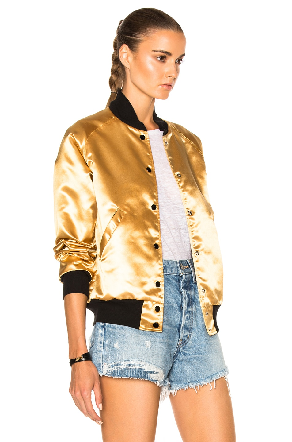 Image 5 of Catherine Fulmer Bowie Bomber Jacket in Gold