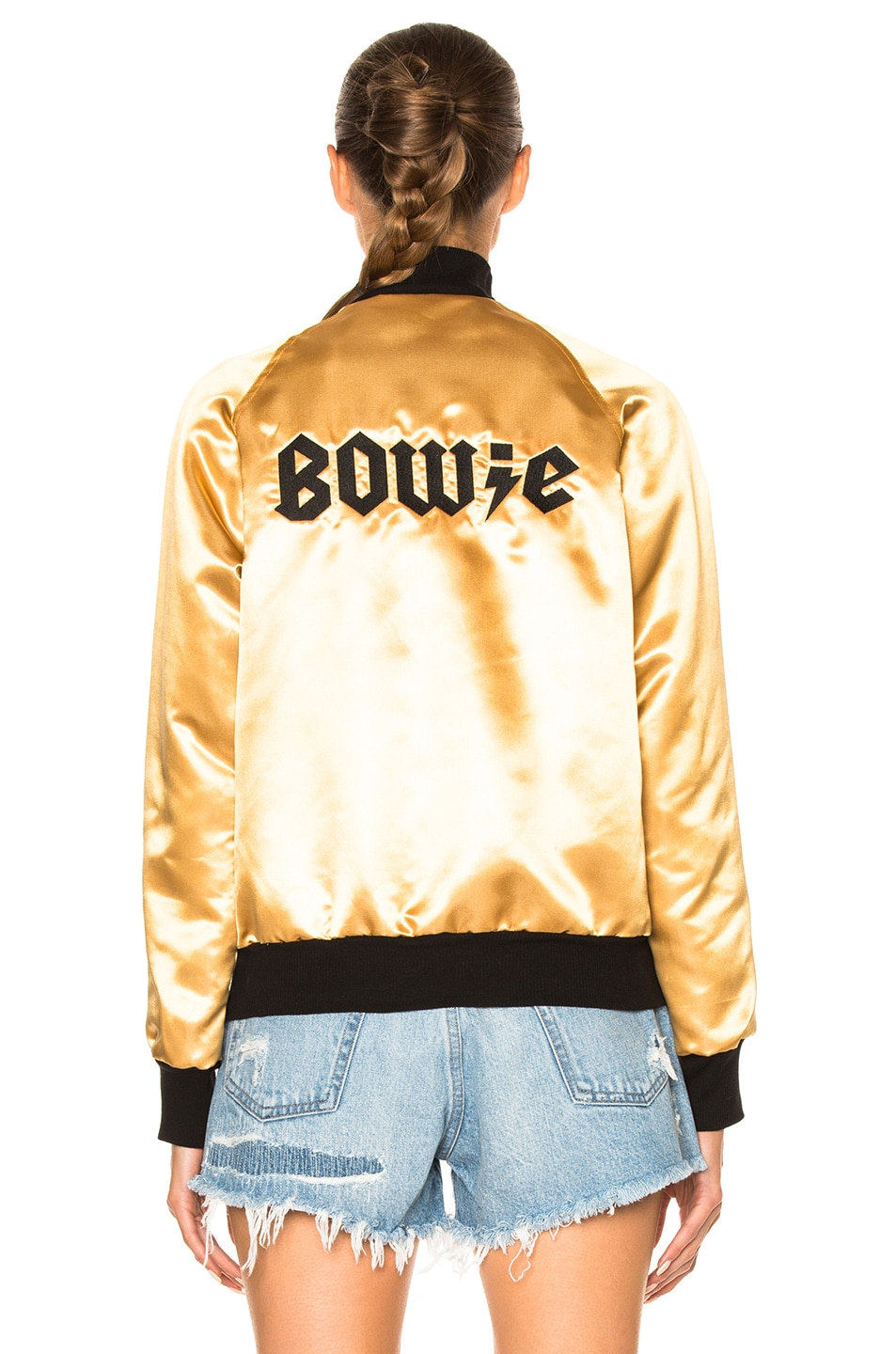 Image 6 of Catherine Fulmer Bowie Bomber Jacket in Gold