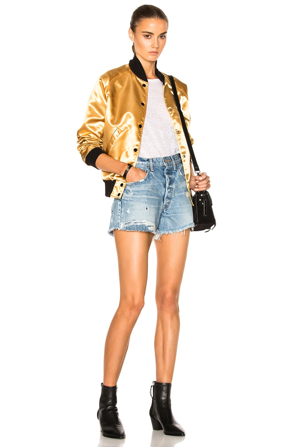 Image 7 of Catherine Fulmer Bowie Bomber Jacket in Gold