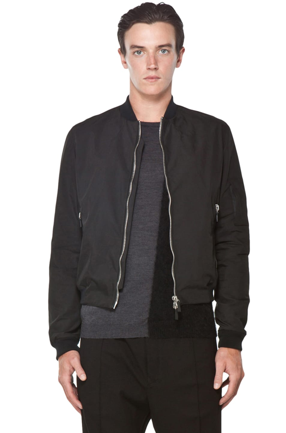CoSTUME NATIONAL Bomber Jacket in Black | FWRD