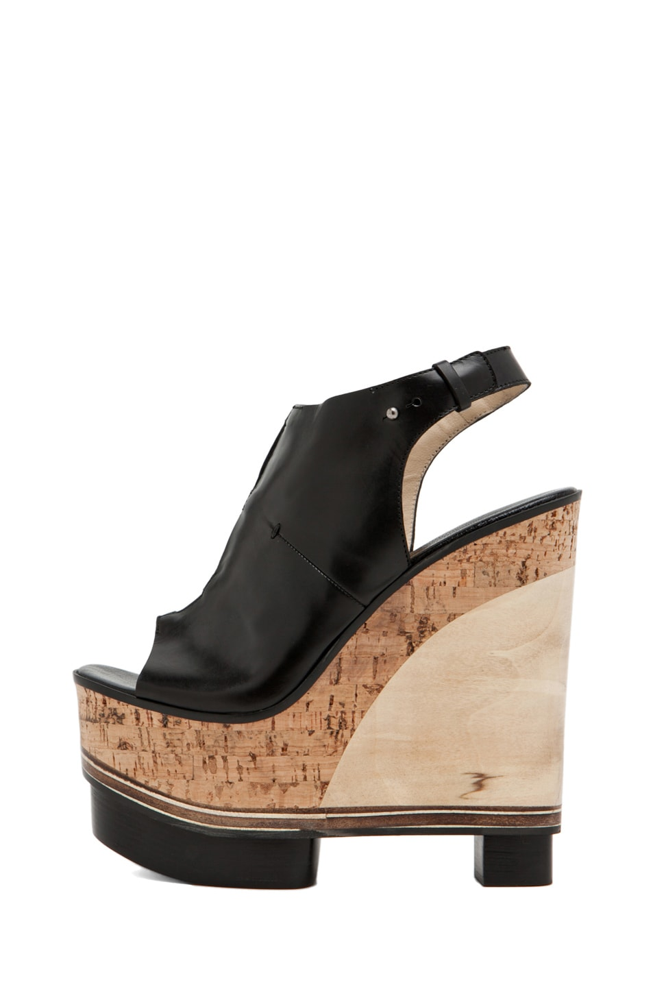 Image 1 of CoSTUME NATIONAL Lux Stacked Wedge in Black