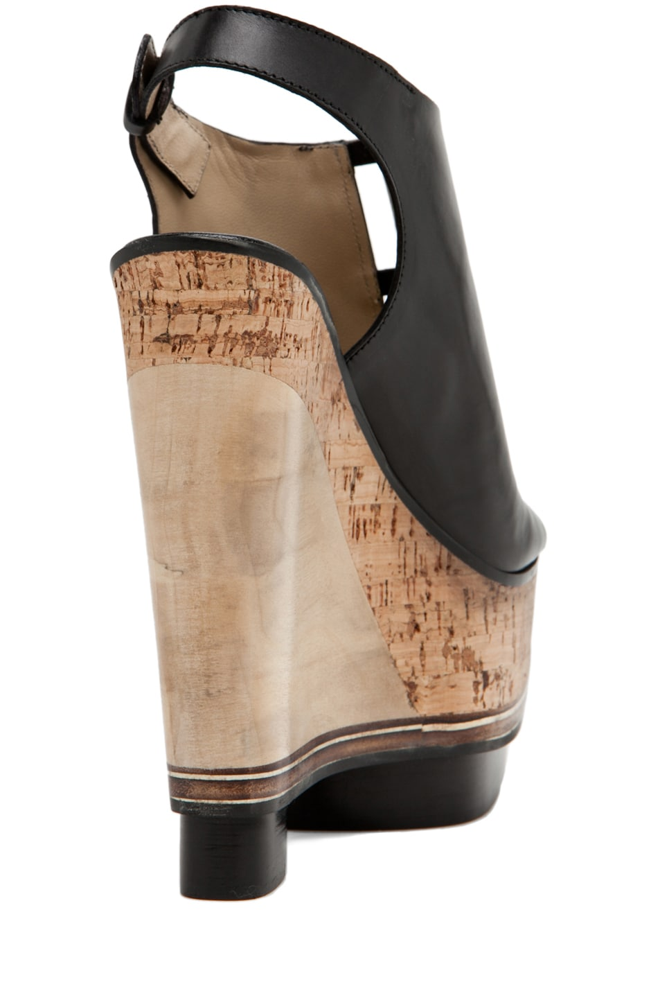 Image 3 of CoSTUME NATIONAL Lux Stacked Wedge in Black
