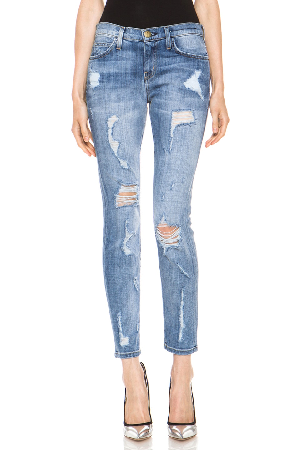 Image 1 of Current/Elliott The Stiletto Jean in Shredded