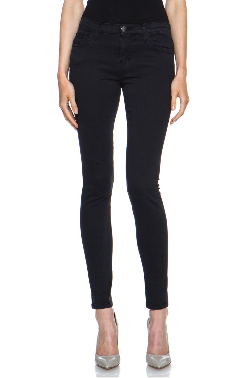 Image 1 of Current/Elliott Ankle Skinny in Washed Black