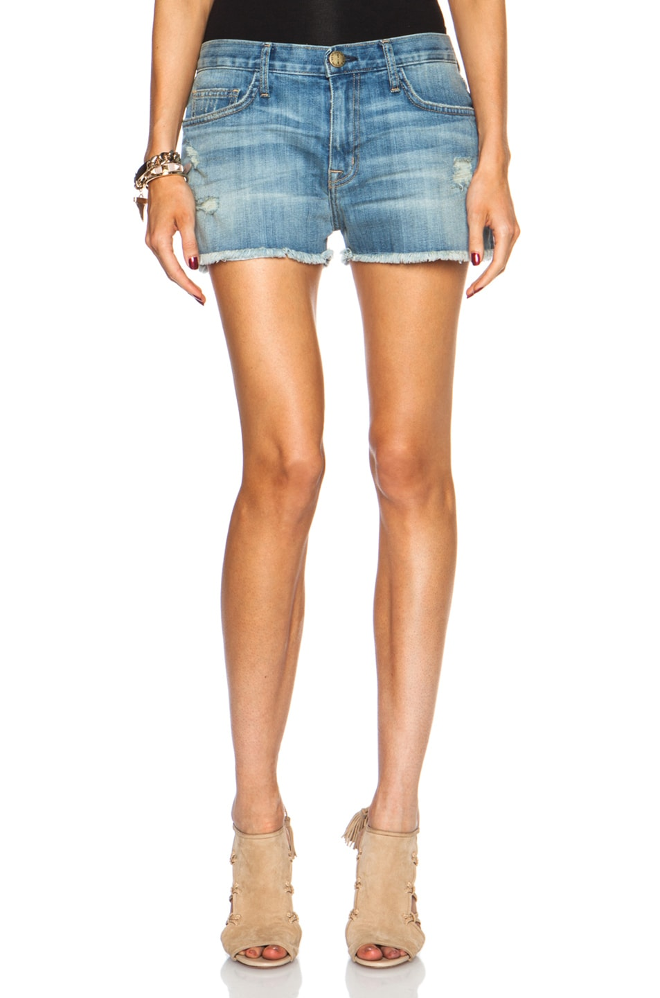 Image 1 of Current/Elliott Boyfriend Shorts in Super Loved Dest